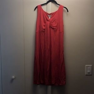 Coral Knot in Front Long Dress